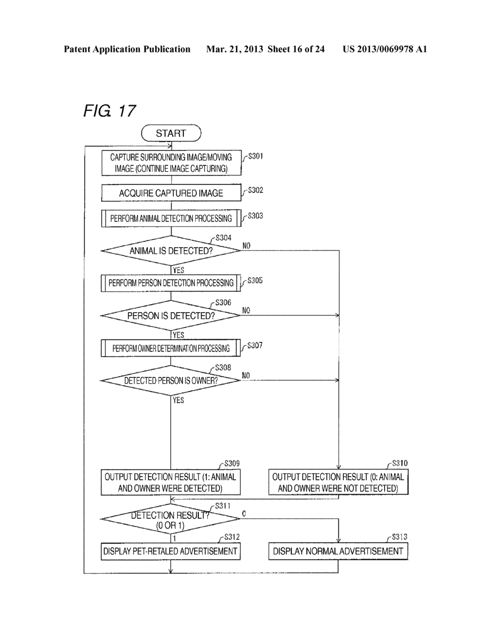DETECTION DEVICE, DISPLAY CONTROL DEVICE AND IMAGING CONTROL DEVICE     PROVIDED WITH THE DETECTION DEVICE, BODY DETECTION METHOD, AND RECORDING     MEDIUM - diagram, schematic, and image 17