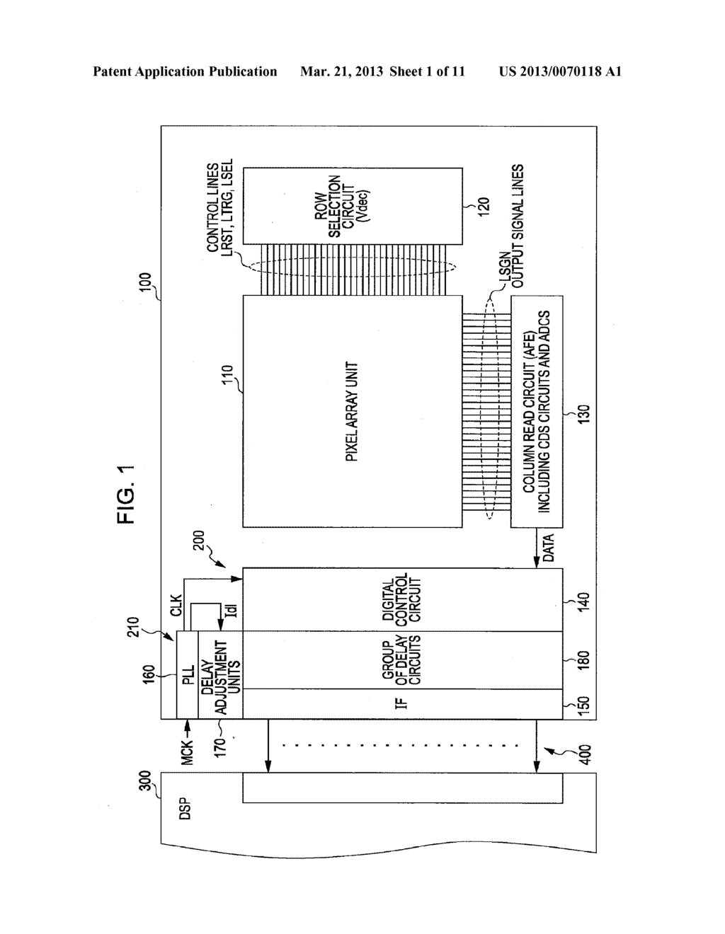 TIMING ADJUSTMENT CIRCUIT, SOLID-STATE IMAGE PICKUP ELEMENT, AND CAMERA     SYSTEM - diagram, schematic, and image 02