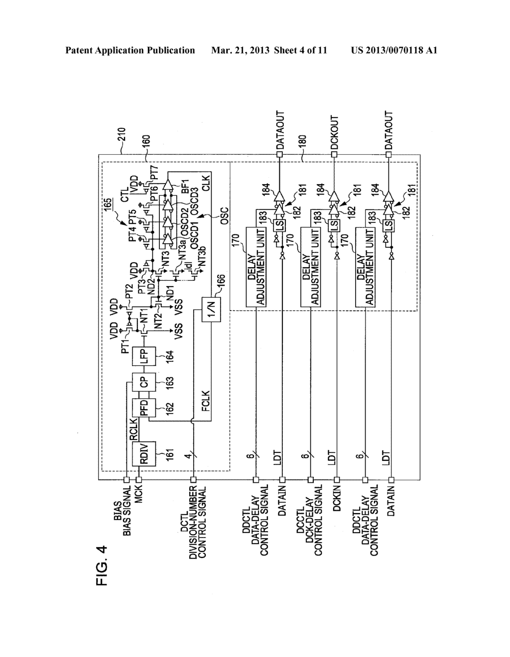 TIMING ADJUSTMENT CIRCUIT, SOLID-STATE IMAGE PICKUP ELEMENT, AND CAMERA     SYSTEM - diagram, schematic, and image 05