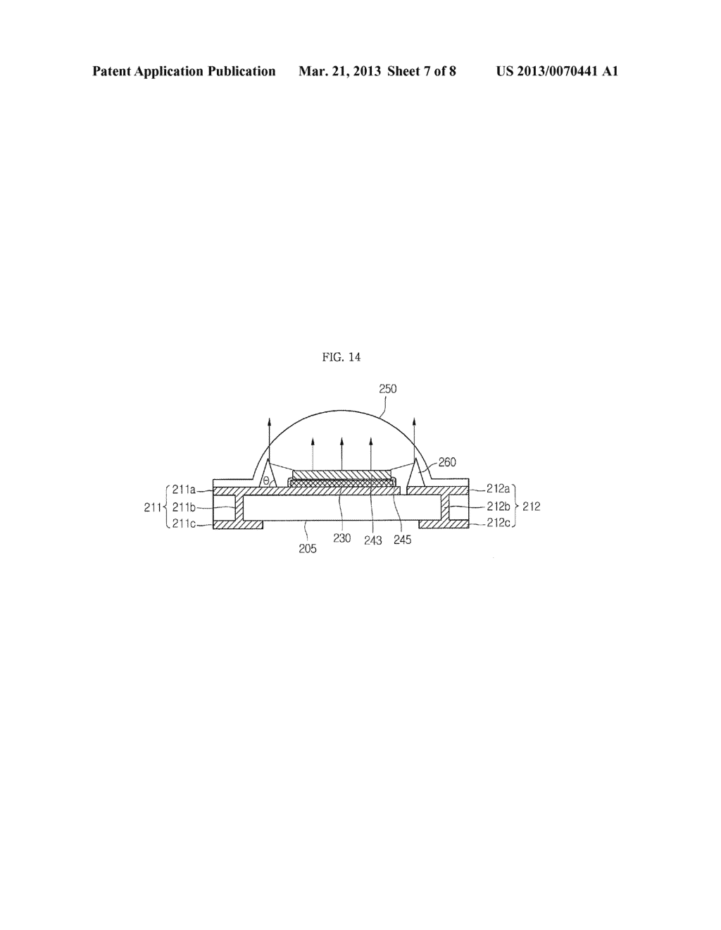 LIGHT EMITTING DEVICE PACKAGE AND LIGHTING SYSTEM INCLUDING THE SAME - diagram, schematic, and image 08