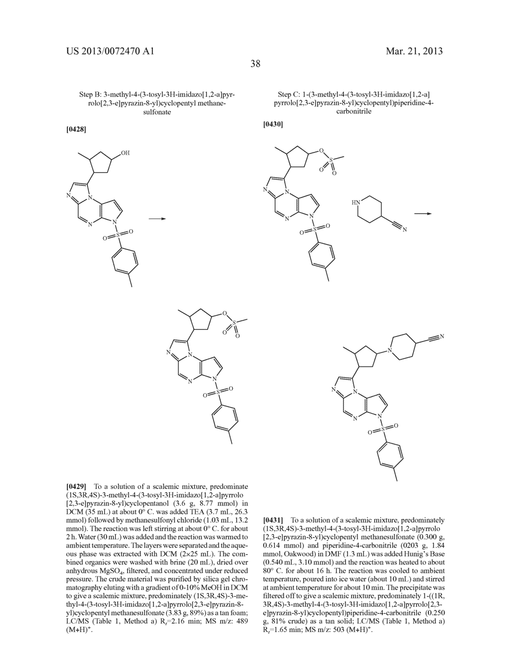 NOVEL TRICYCLIC COMPOUNDS - diagram, schematic, and image 39