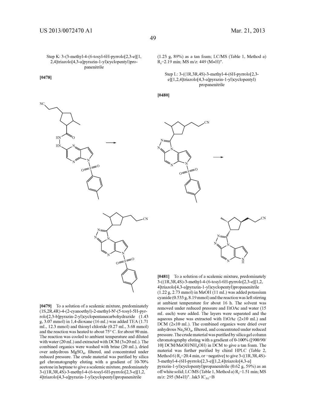 NOVEL TRICYCLIC COMPOUNDS - diagram, schematic, and image 50