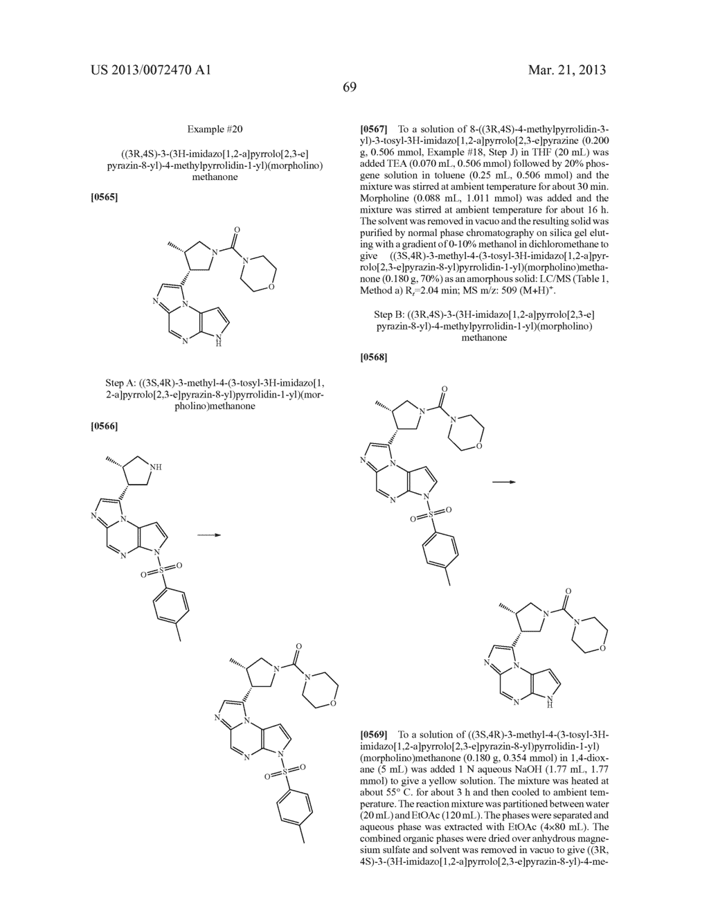 NOVEL TRICYCLIC COMPOUNDS - diagram, schematic, and image 70