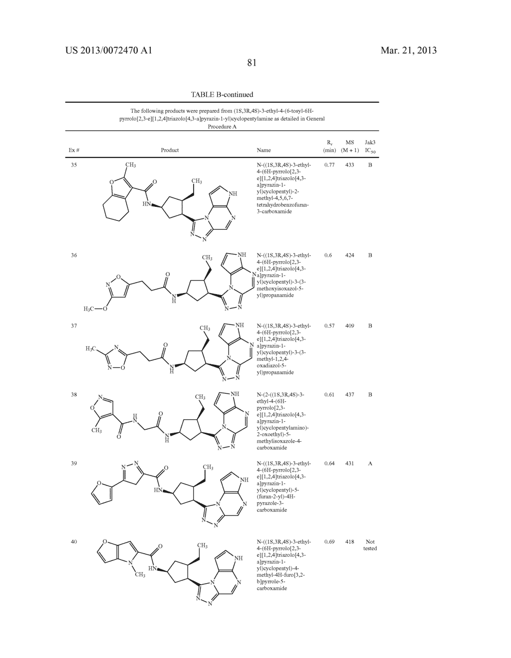 NOVEL TRICYCLIC COMPOUNDS - diagram, schematic, and image 82