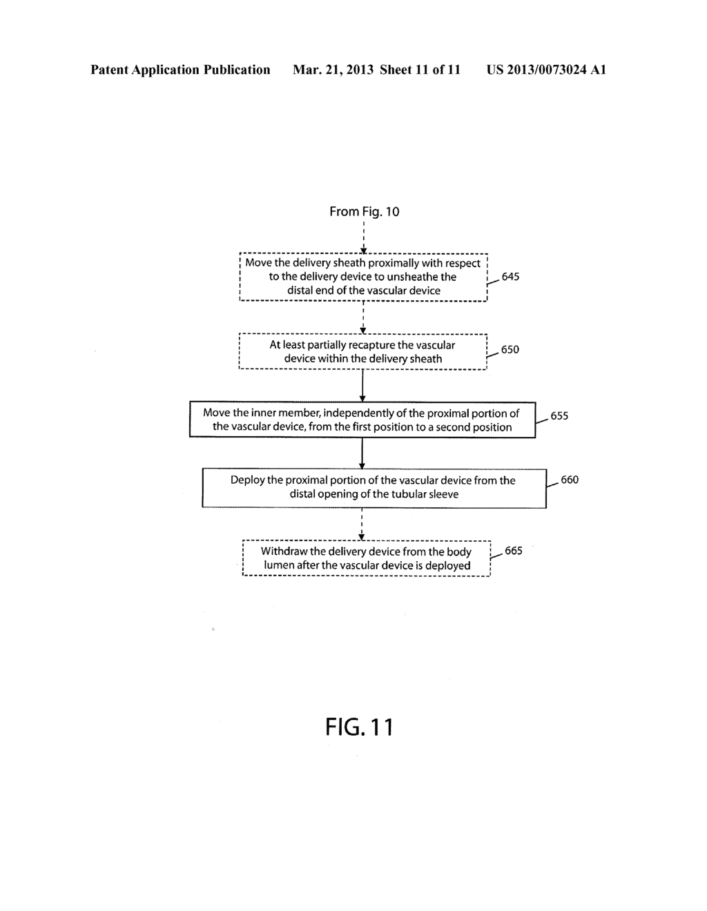 DEVICE AND METHOD FOR DELIVERING A VASCULAR DEVICE - diagram, schematic, and image 12
