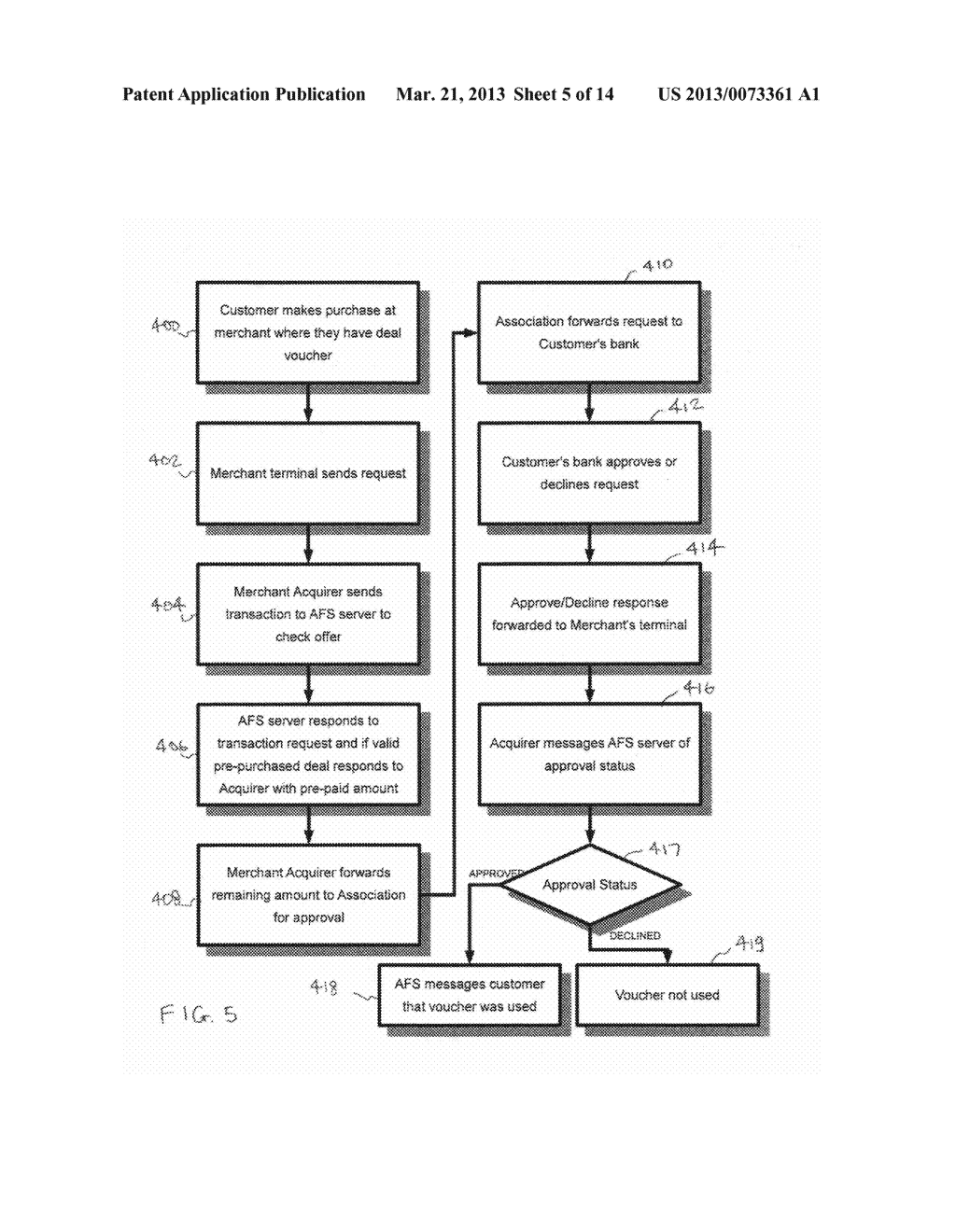 Methods and systems for offering targeted deals to customers and real-time     automatic redemption thereof - diagram, schematic, and image 06