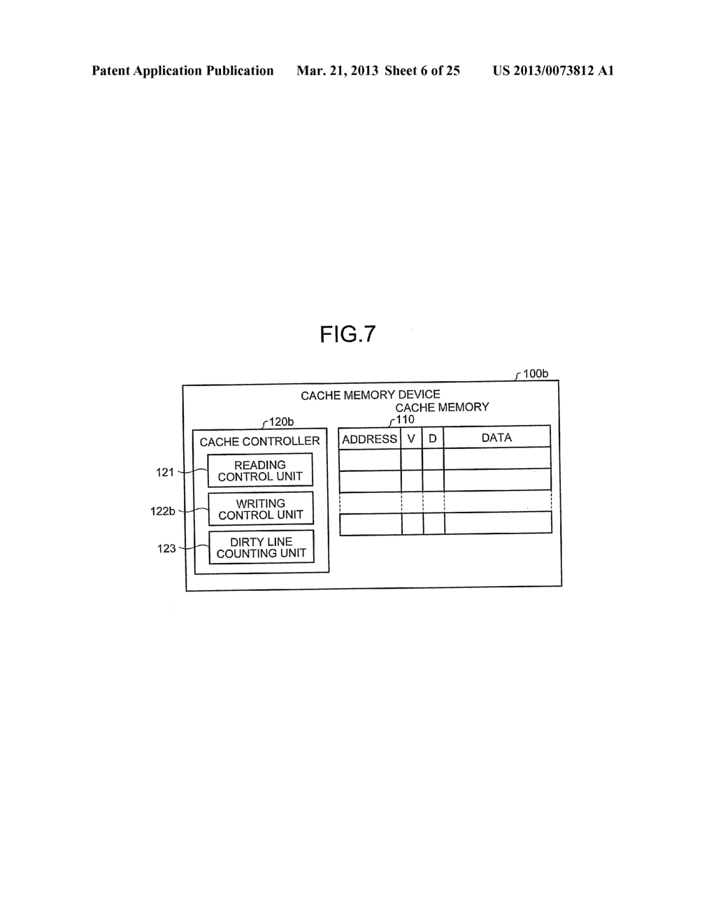 CACHE MEMORY DEVICE, PROCESSOR, AND INFORMATION PROCESSING APPARATUS - diagram, schematic, and image 07