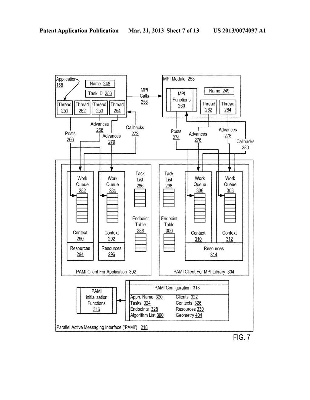 ENDPOINT-BASED PARALLEL DATA PROCESSING WITH NON-BLOCKING COLLECTIVE     INSTRUCTIONS IN A PARALLEL ACTIVE MESSAGING INTERFACE OF A PARALLEL     COMPUTER - diagram, schematic, and image 08