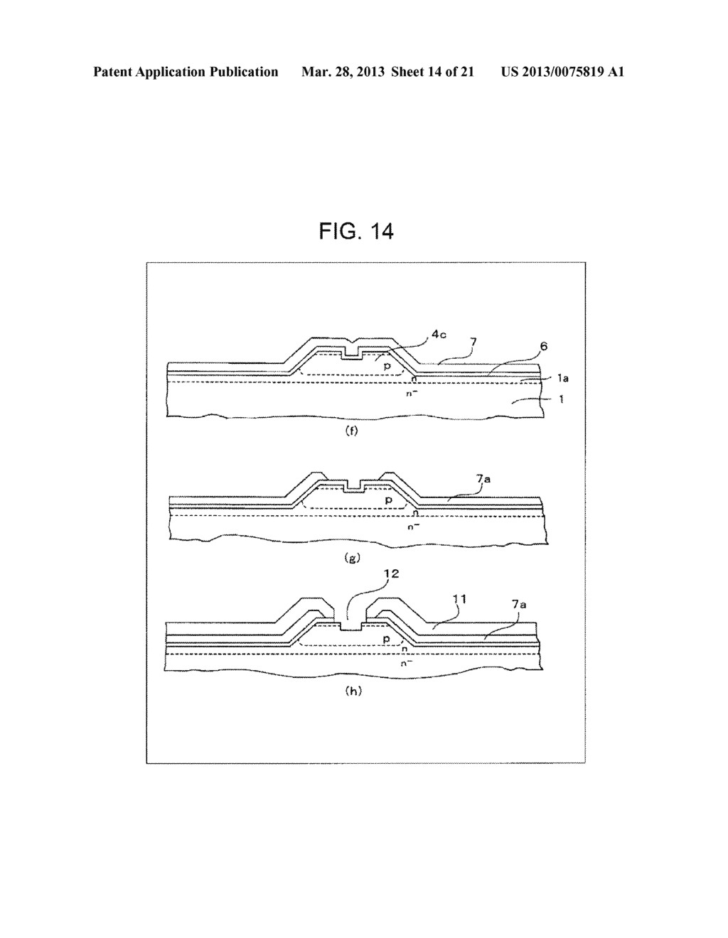SEMICONDUCTOR DEVICE AND METHOD OF MANUFACTURING SAME - diagram, schematic, and image 15
