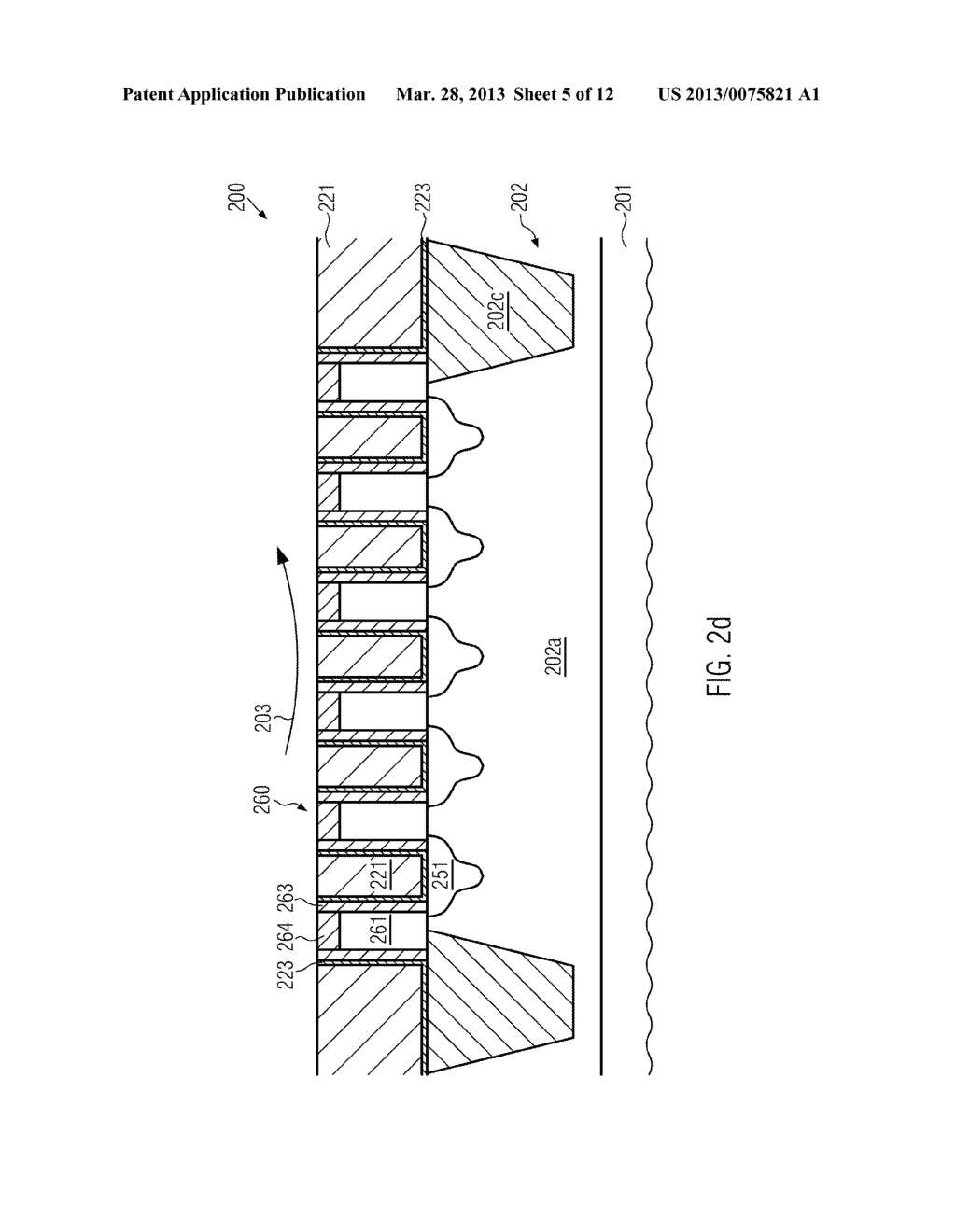 Semiconductor Device Comprising Replacement Gate Electrode Structures and     Self-Aligned Contact Elements Formed by a Late Contact Fill - diagram, schematic, and image 06