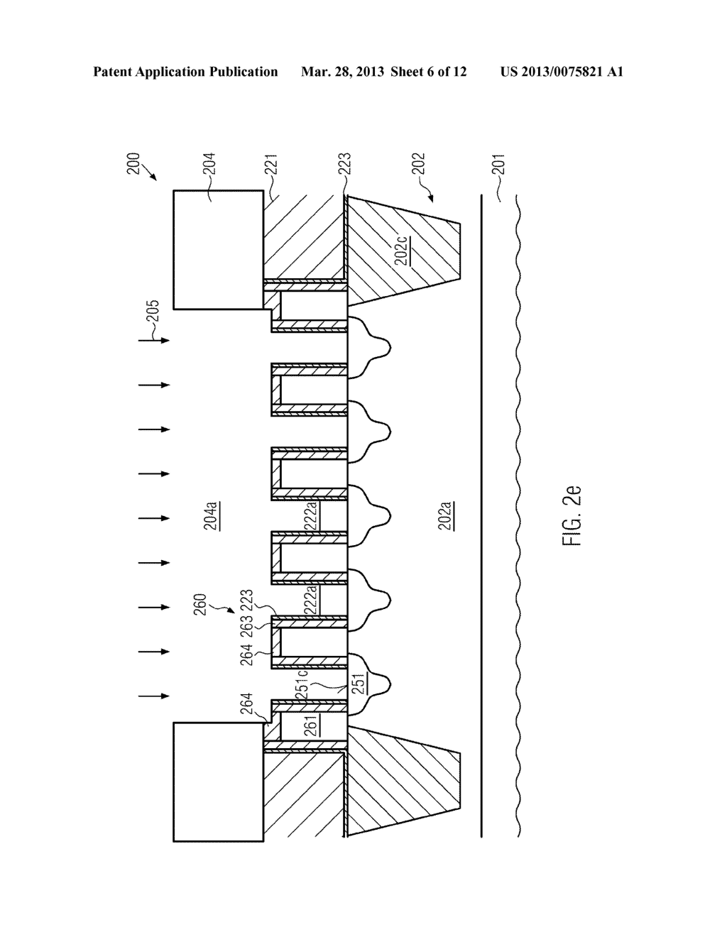 Semiconductor Device Comprising Replacement Gate Electrode Structures and     Self-Aligned Contact Elements Formed by a Late Contact Fill - diagram, schematic, and image 07