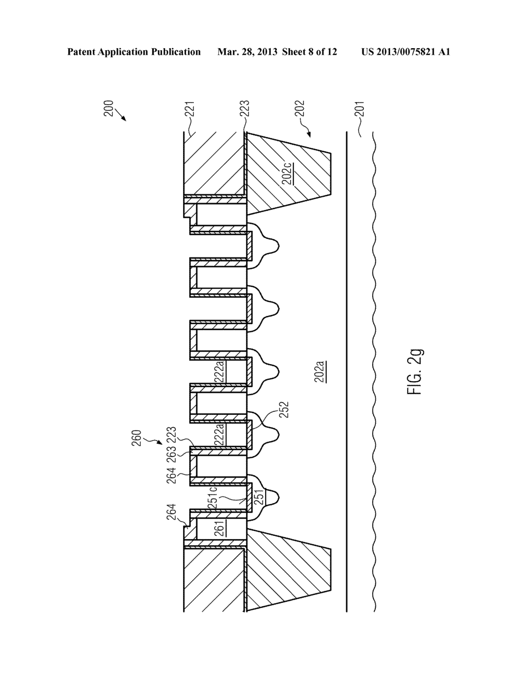 Semiconductor Device Comprising Replacement Gate Electrode Structures and     Self-Aligned Contact Elements Formed by a Late Contact Fill - diagram, schematic, and image 09