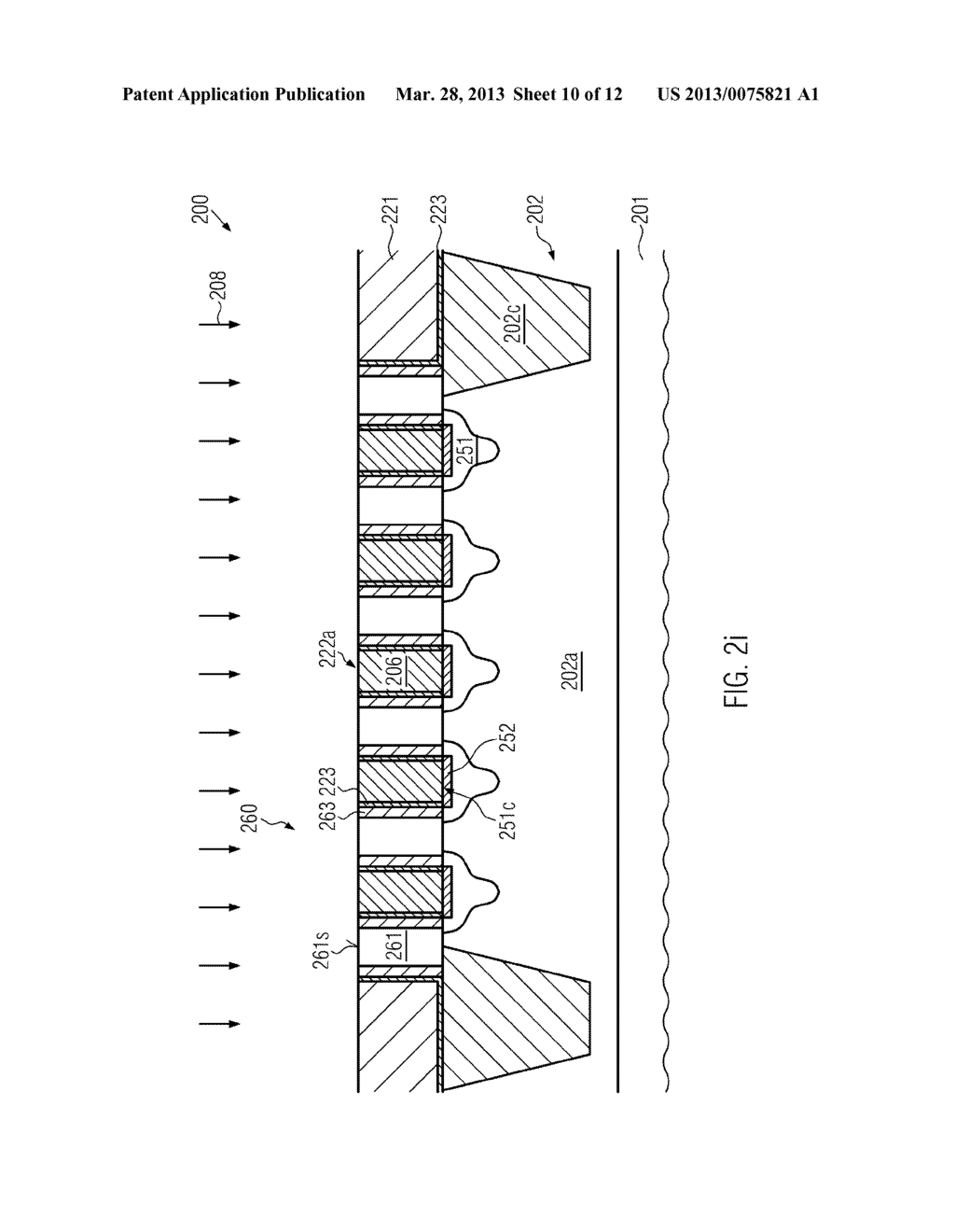 Semiconductor Device Comprising Replacement Gate Electrode Structures and     Self-Aligned Contact Elements Formed by a Late Contact Fill - diagram, schematic, and image 11