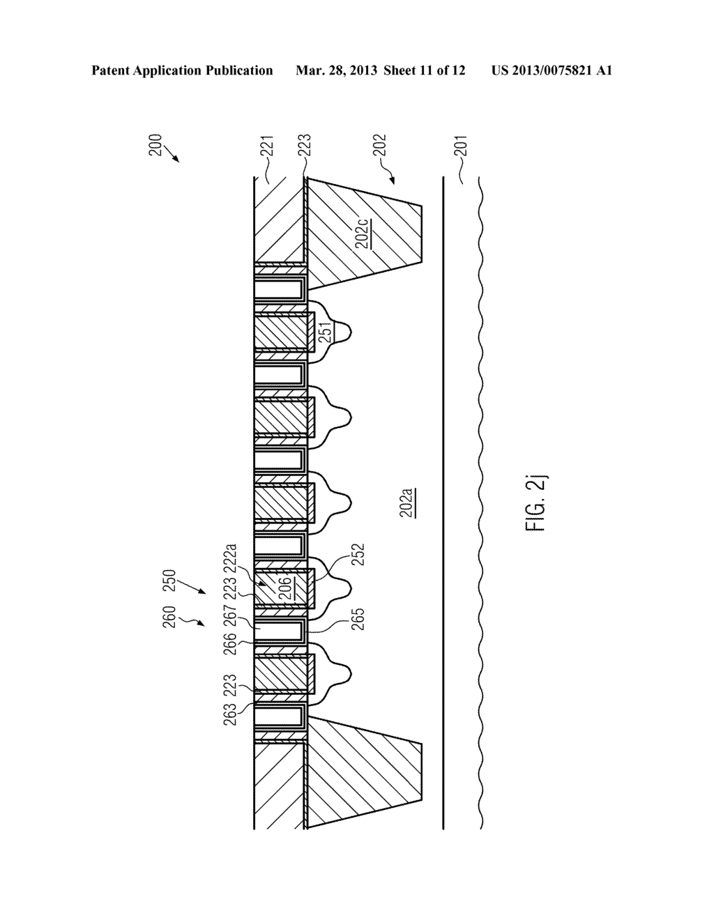 Semiconductor Device Comprising Replacement Gate Electrode Structures and     Self-Aligned Contact Elements Formed by a Late Contact Fill - diagram, schematic, and image 12
