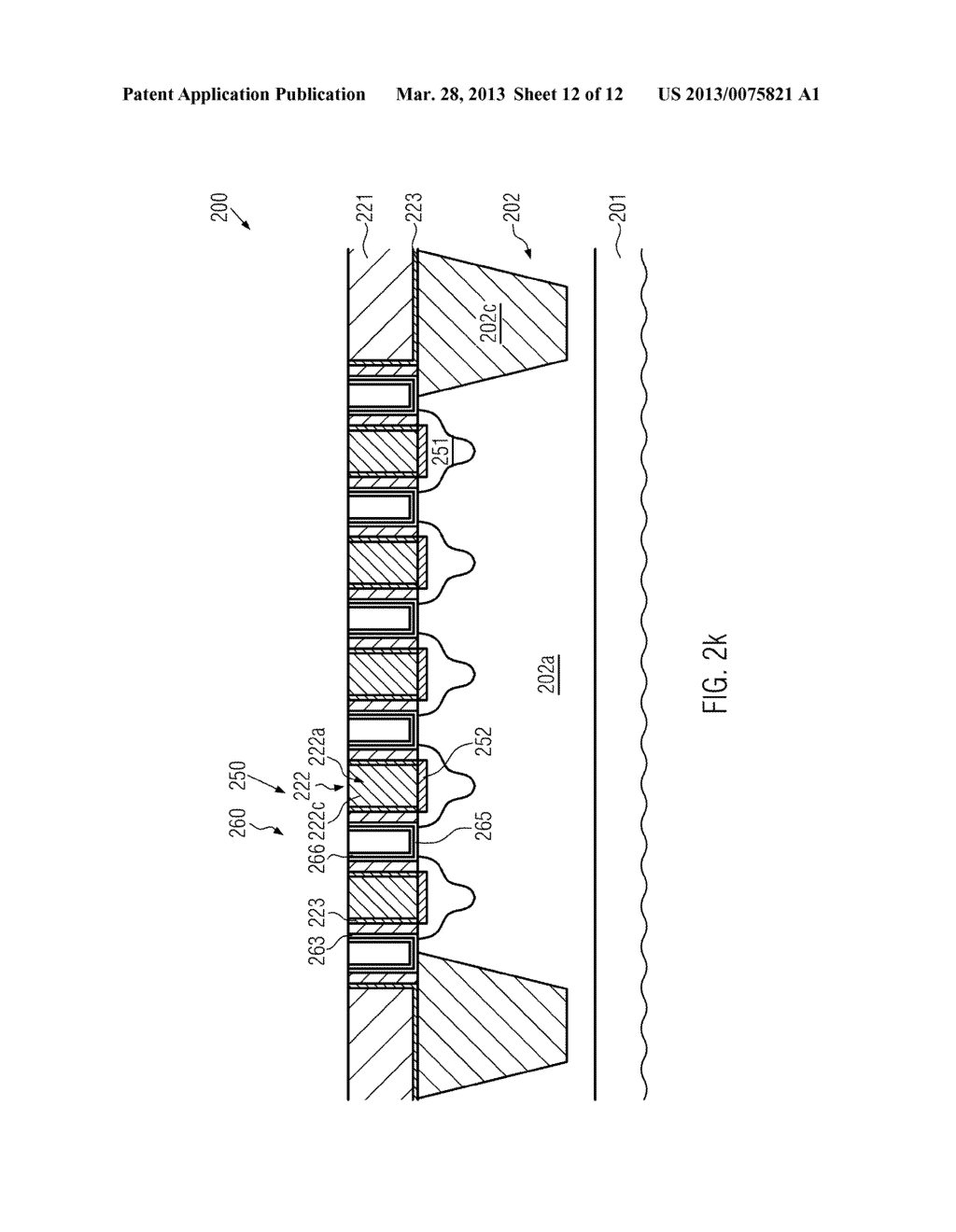 Semiconductor Device Comprising Replacement Gate Electrode Structures and     Self-Aligned Contact Elements Formed by a Late Contact Fill - diagram, schematic, and image 13