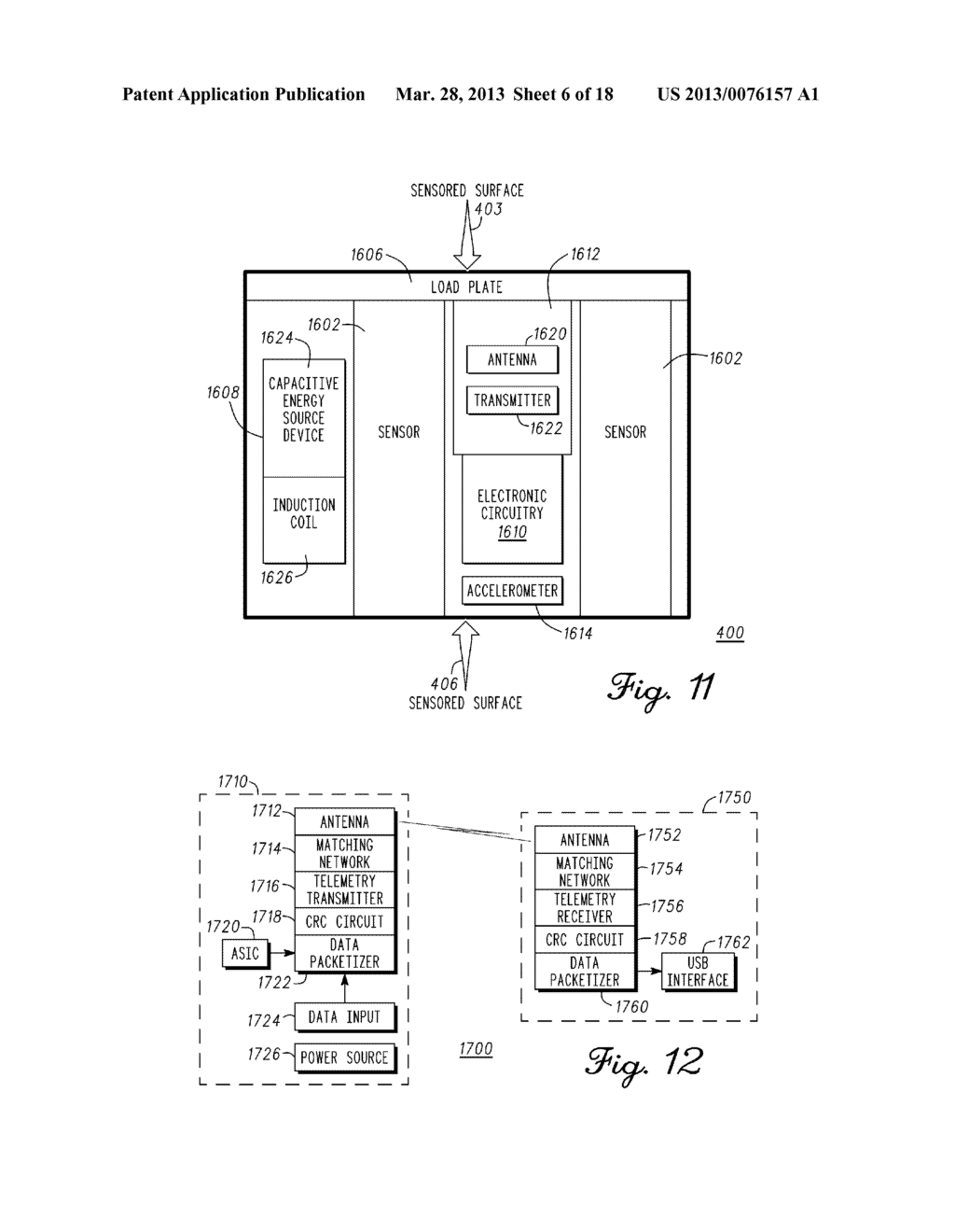 DEVICE AND METHOD FOR ENABLING AN ORTHOPEDIC TOOL FOR PARAMETER     MEASUREMENT - diagram, schematic, and image 07