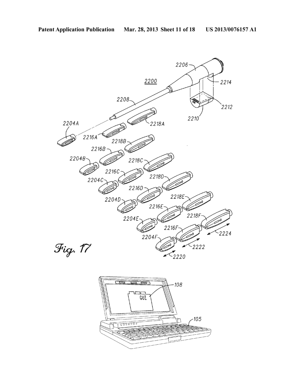 DEVICE AND METHOD FOR ENABLING AN ORTHOPEDIC TOOL FOR PARAMETER     MEASUREMENT - diagram, schematic, and image 12