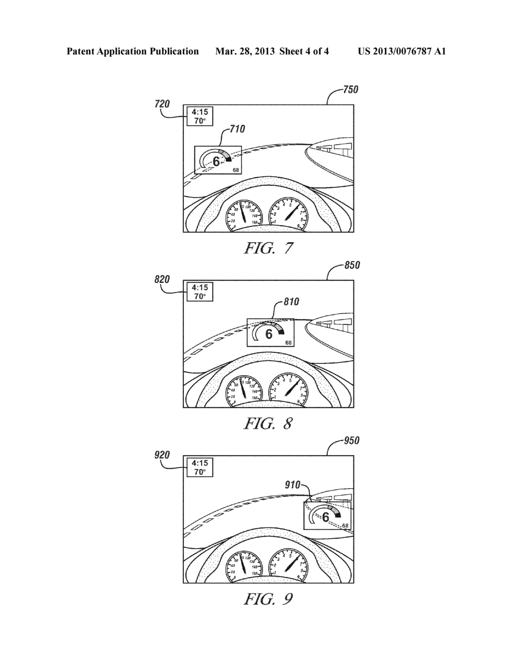 DYNAMIC INFORMATION PRESENTATION ON FULL WINDSHIELD HEAD-UP DISPLAY - diagram, schematic, and image 05