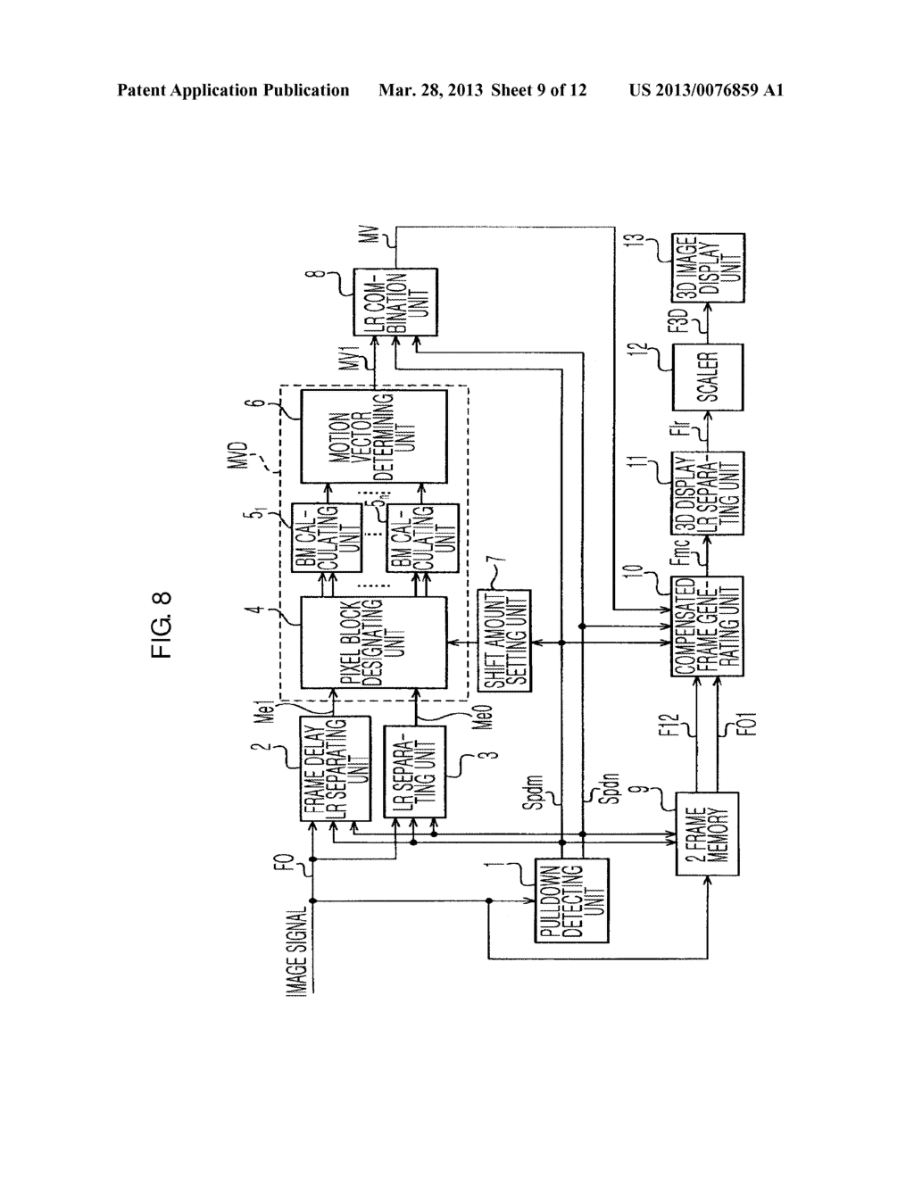 METHOD AND APPARATUS FOR DETECTING MOTION VECTOR, AND METHOD AND APPARATUS     FOR PROCESSING IMAGE SIGNAL - diagram, schematic, and image 10