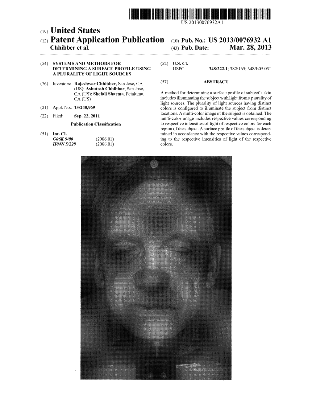 SYSTEMS AND METHODS FOR DETERMINING A SURFACE PROFILE USING A PLURALITY OF     LIGHT SOURCES - diagram, schematic, and image 01