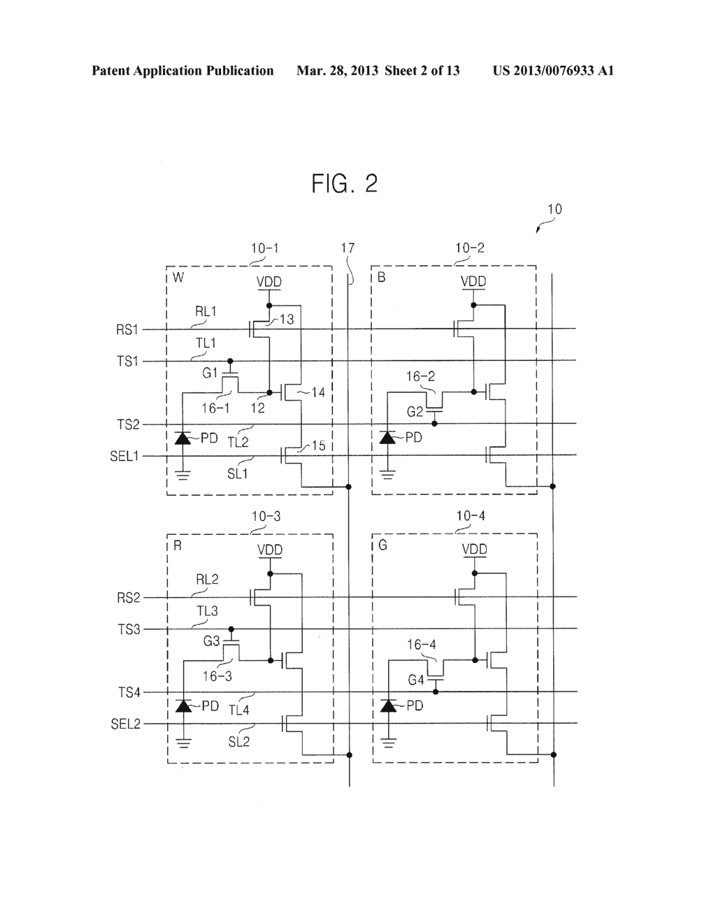 BACKSIDE ILLUMINATION IMAGE SENSOR, OPERATING METHOD THEREOF, IMAGE     PROCESSING SYSTEM AND METHOD OF PROCESSING IMAGE USING THE SAME - diagram, schematic, and image 03