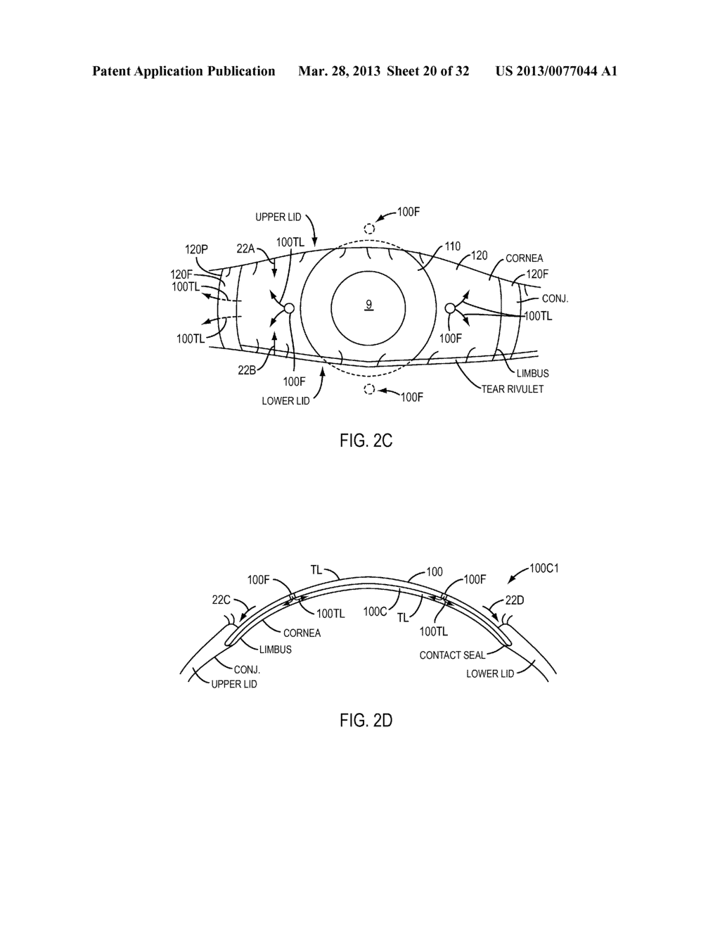 Eye Covering and Refractive Correction Methods and Apparatus Having     Improved Tear Flow, Comfort, and/or Applicability - diagram, schematic, and image 21