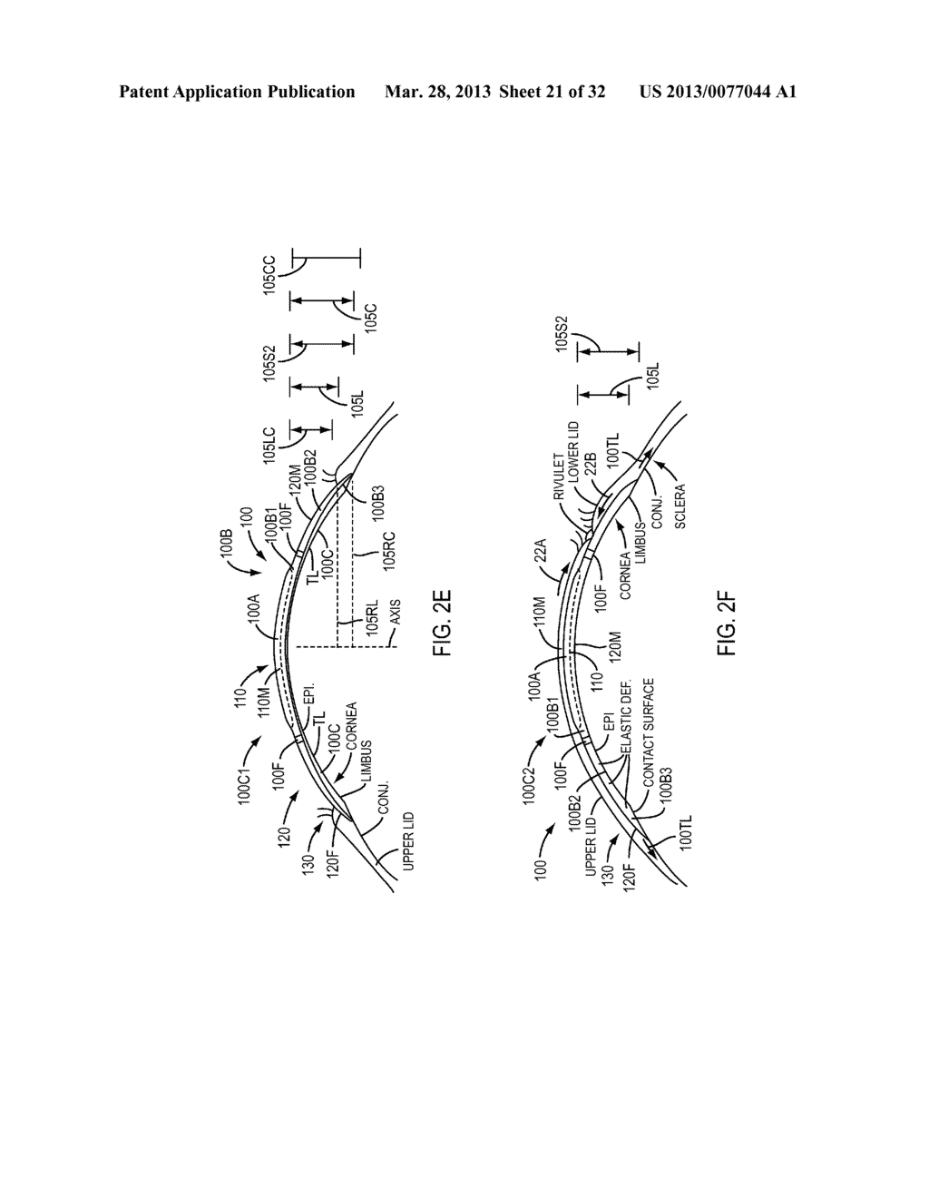 Eye Covering and Refractive Correction Methods and Apparatus Having     Improved Tear Flow, Comfort, and/or Applicability - diagram, schematic, and image 22