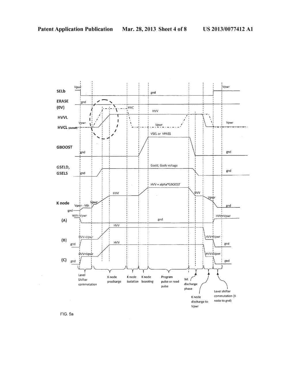ROW DRIVER CIRCUIT FOR NAND MEMORIES INCLUDING A DECOUPLING INVERTER - diagram, schematic, and image 05