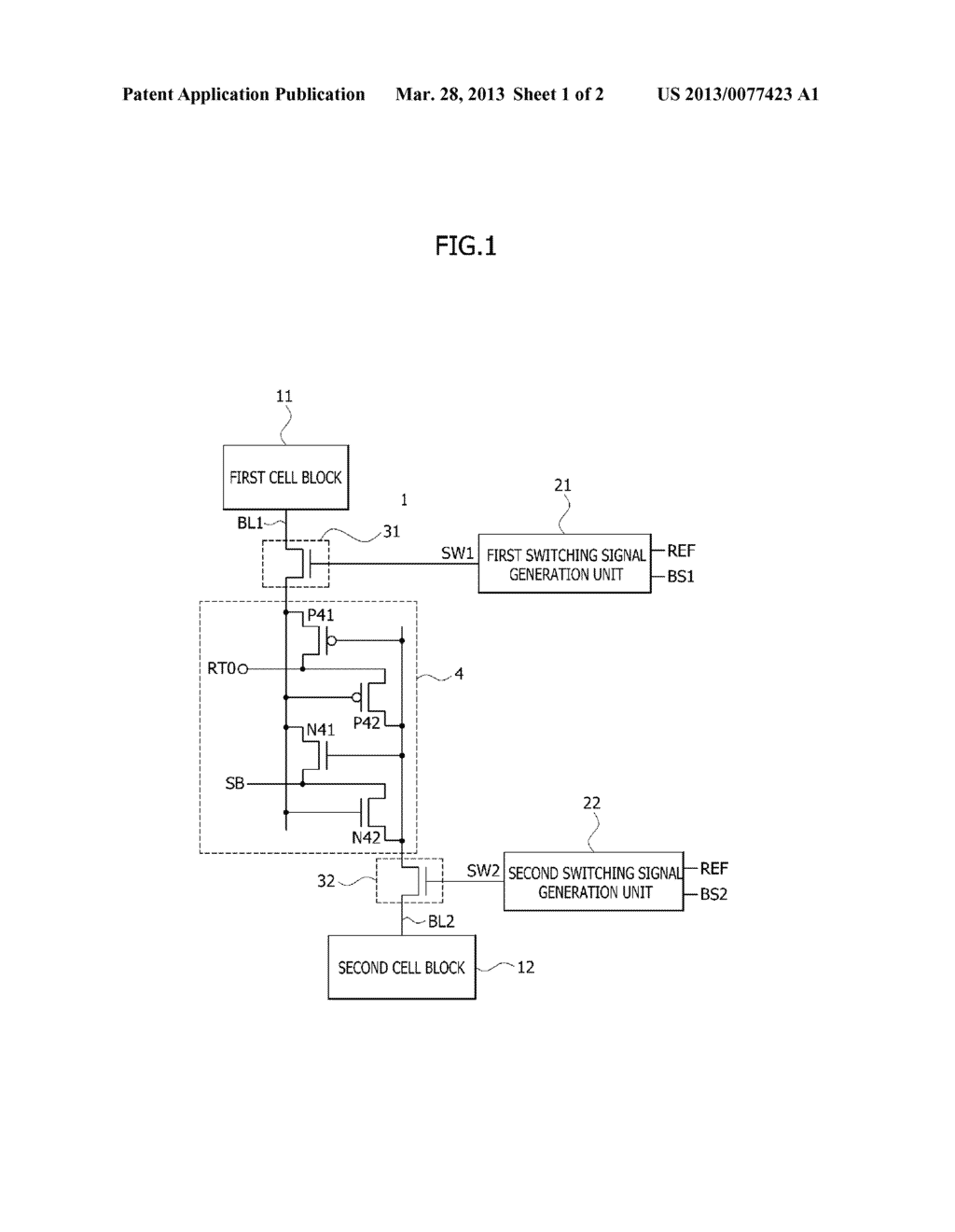 REFRESH METHOD AND APPARATUS FOR A SEMICONDUCTOR MEMORY DEVICE - diagram, schematic, and image 02