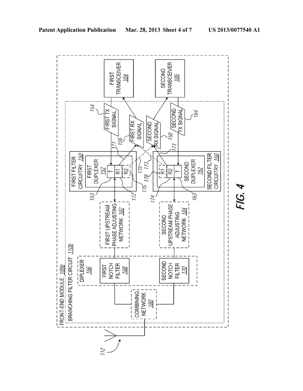 COMMUNICATION DEVICE FOR SIMULTANEOUS TRANSMISSION BY MULTIPLE     TRANSCEIVERS - diagram, schematic, and image 05