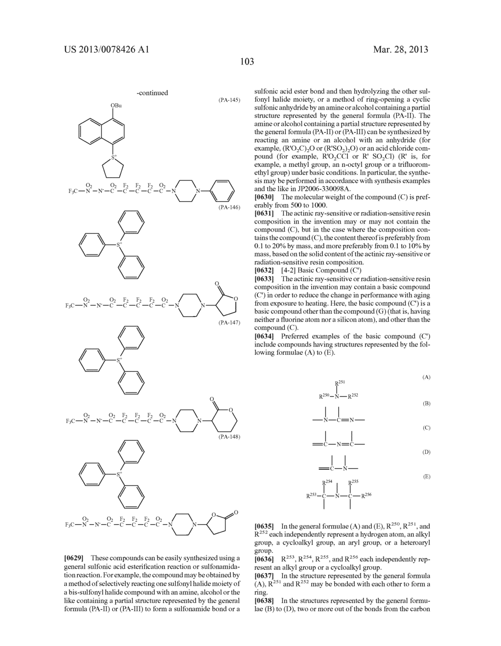 ACTINIC RAY-SENSITIVE OR RADIATION-SENSITIVE RESIN COMPOSITION, AND RESIST     FILM, PATTERN FORMING METHOD, METHOD FOR PREPARING ELECTRONIC DEVICE, AND     ELECTRONIC DEVICE, EACH USING THE SAME - diagram, schematic, and image 104