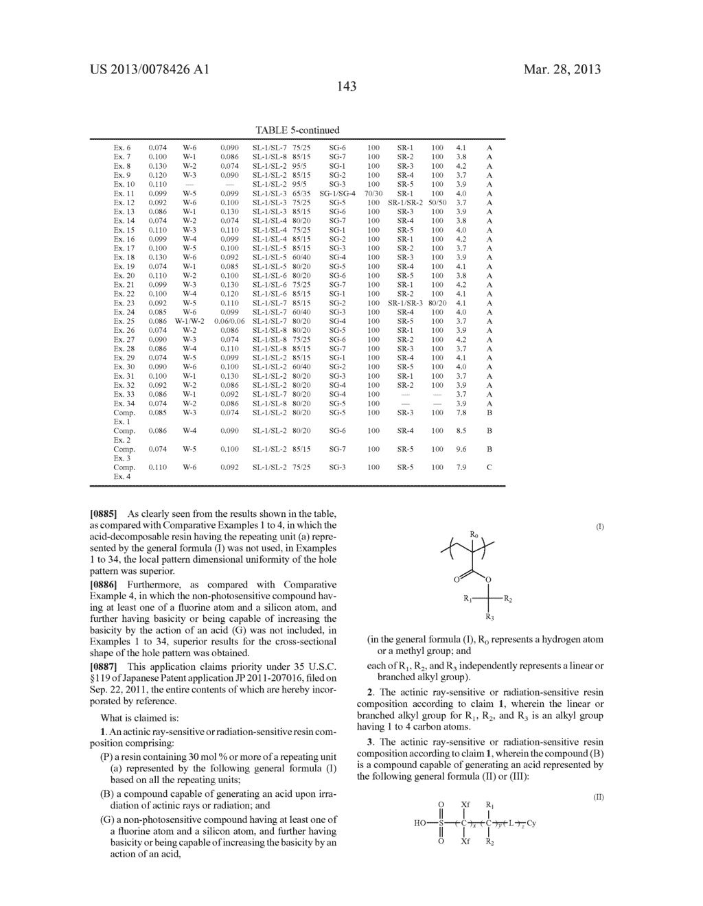 ACTINIC RAY-SENSITIVE OR RADIATION-SENSITIVE RESIN COMPOSITION, AND RESIST     FILM, PATTERN FORMING METHOD, METHOD FOR PREPARING ELECTRONIC DEVICE, AND     ELECTRONIC DEVICE, EACH USING THE SAME - diagram, schematic, and image 144