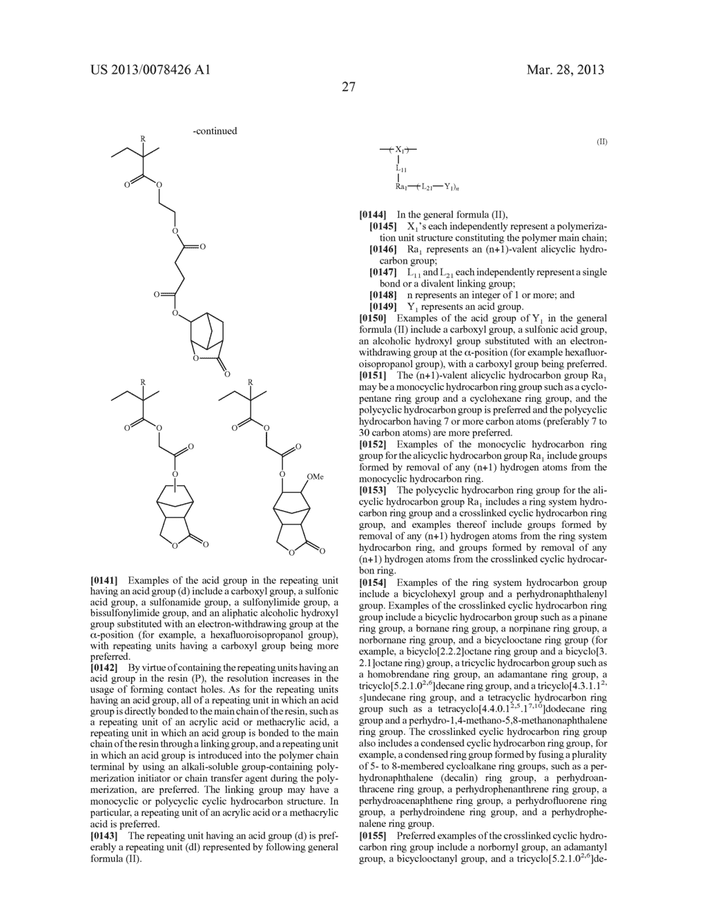 ACTINIC RAY-SENSITIVE OR RADIATION-SENSITIVE RESIN COMPOSITION, AND RESIST     FILM, PATTERN FORMING METHOD, METHOD FOR PREPARING ELECTRONIC DEVICE, AND     ELECTRONIC DEVICE, EACH USING THE SAME - diagram, schematic, and image 28