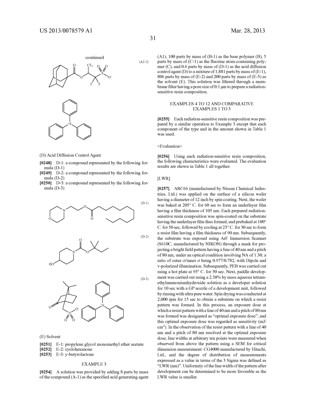 RADIATION-SENSITIVE RESIN COMPOSITION, METHOD FOR FORMING RESIST PATTERN,     ACID GENERATING AGENT AND COMPOUND - diagram, schematic, and image 32