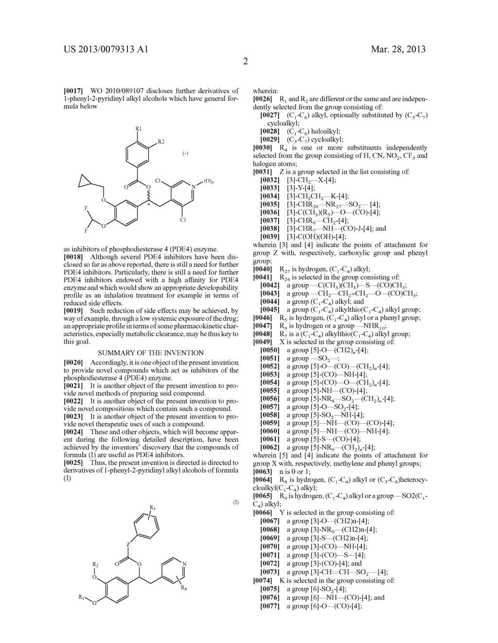 DERIVATIVES OF 1-PHENYL-2-PYRIDINYL ALKYL ALCOHOLS AS PHOSPHODIESTERASE     INHIBITORS - diagram, schematic, and image 03