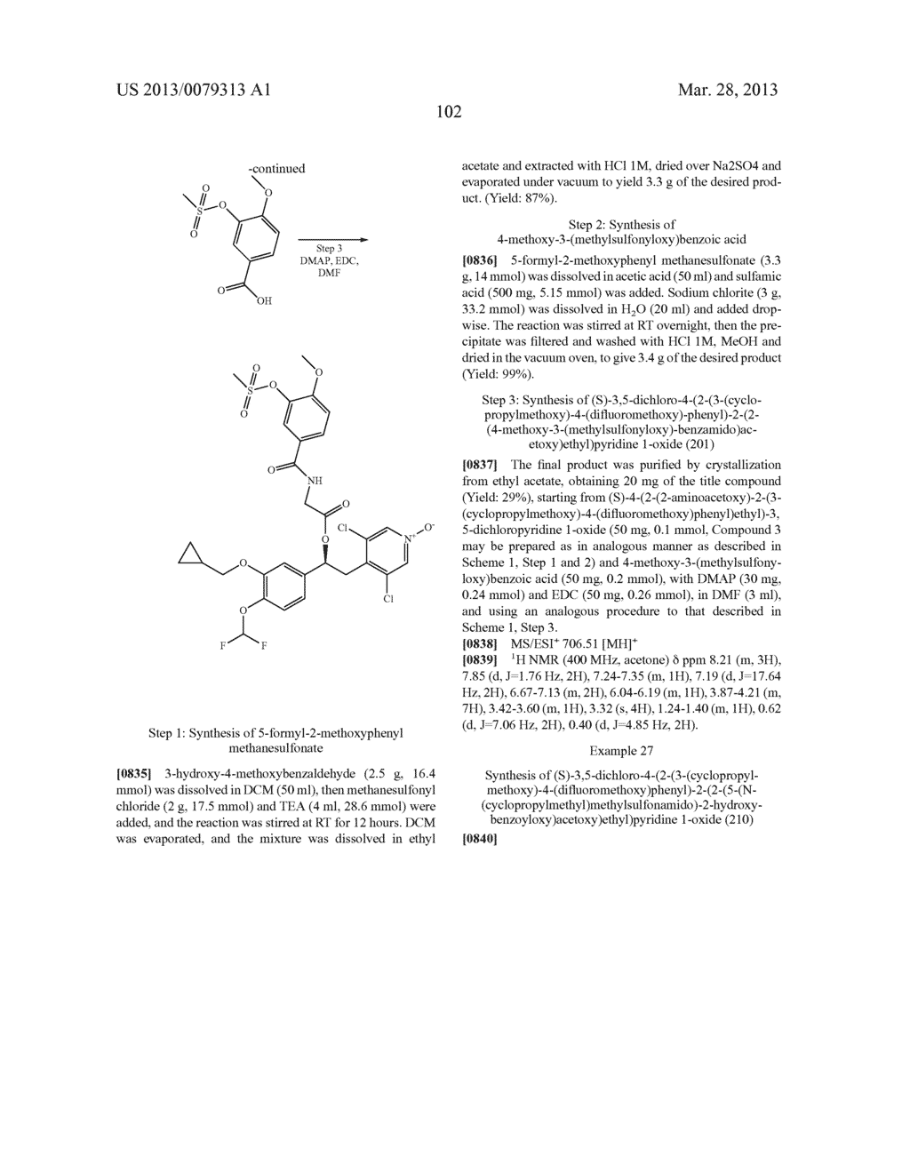 DERIVATIVES OF 1-PHENYL-2-PYRIDINYL ALKYL ALCOHOLS AS PHOSPHODIESTERASE     INHIBITORS - diagram, schematic, and image 103