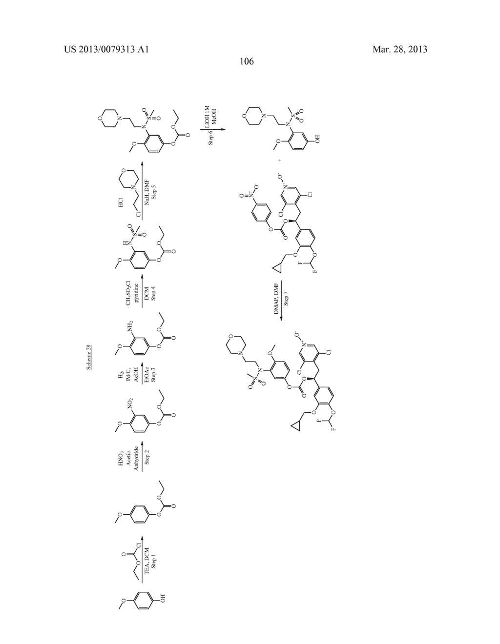 DERIVATIVES OF 1-PHENYL-2-PYRIDINYL ALKYL ALCOHOLS AS PHOSPHODIESTERASE     INHIBITORS - diagram, schematic, and image 107