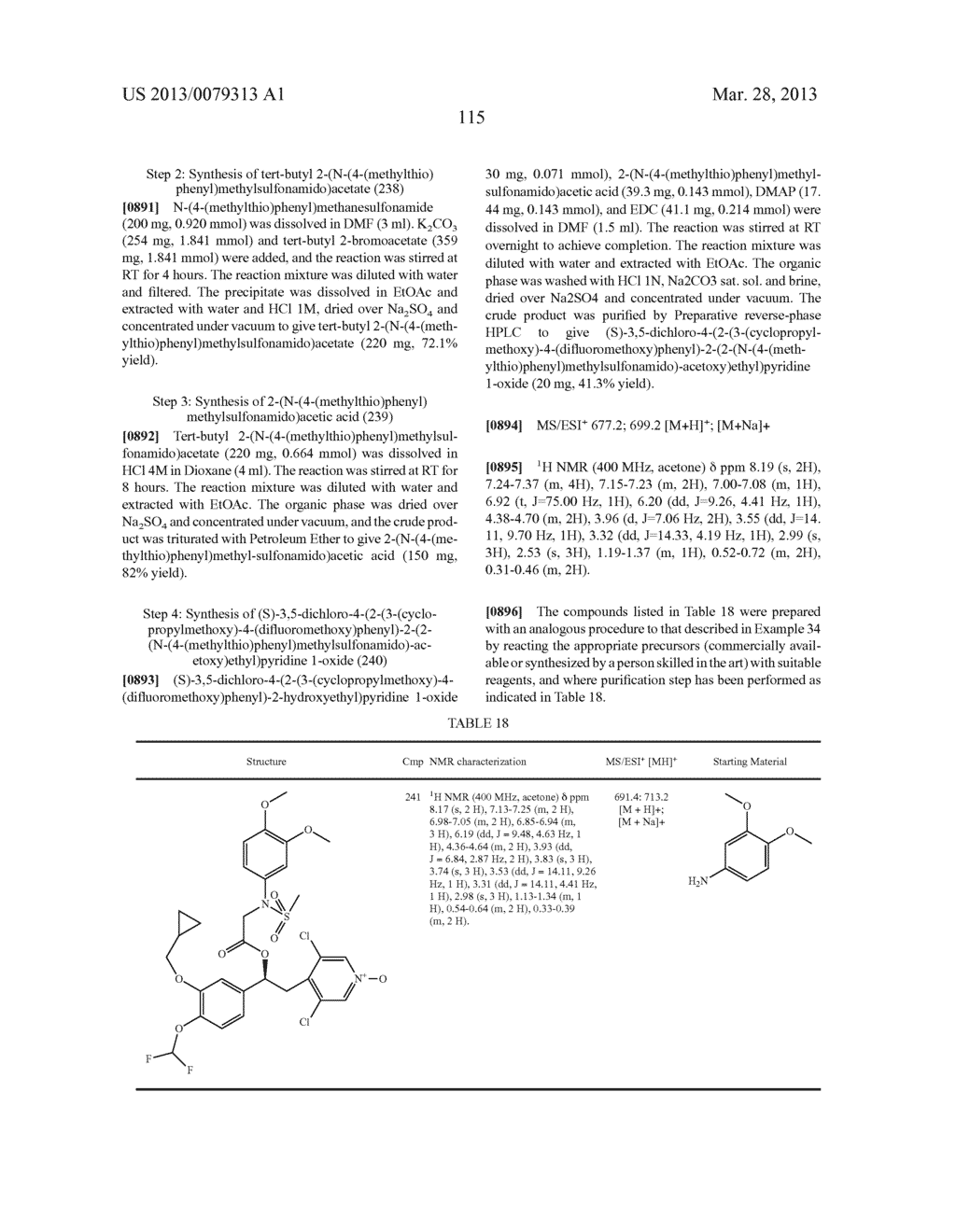 DERIVATIVES OF 1-PHENYL-2-PYRIDINYL ALKYL ALCOHOLS AS PHOSPHODIESTERASE     INHIBITORS - diagram, schematic, and image 116