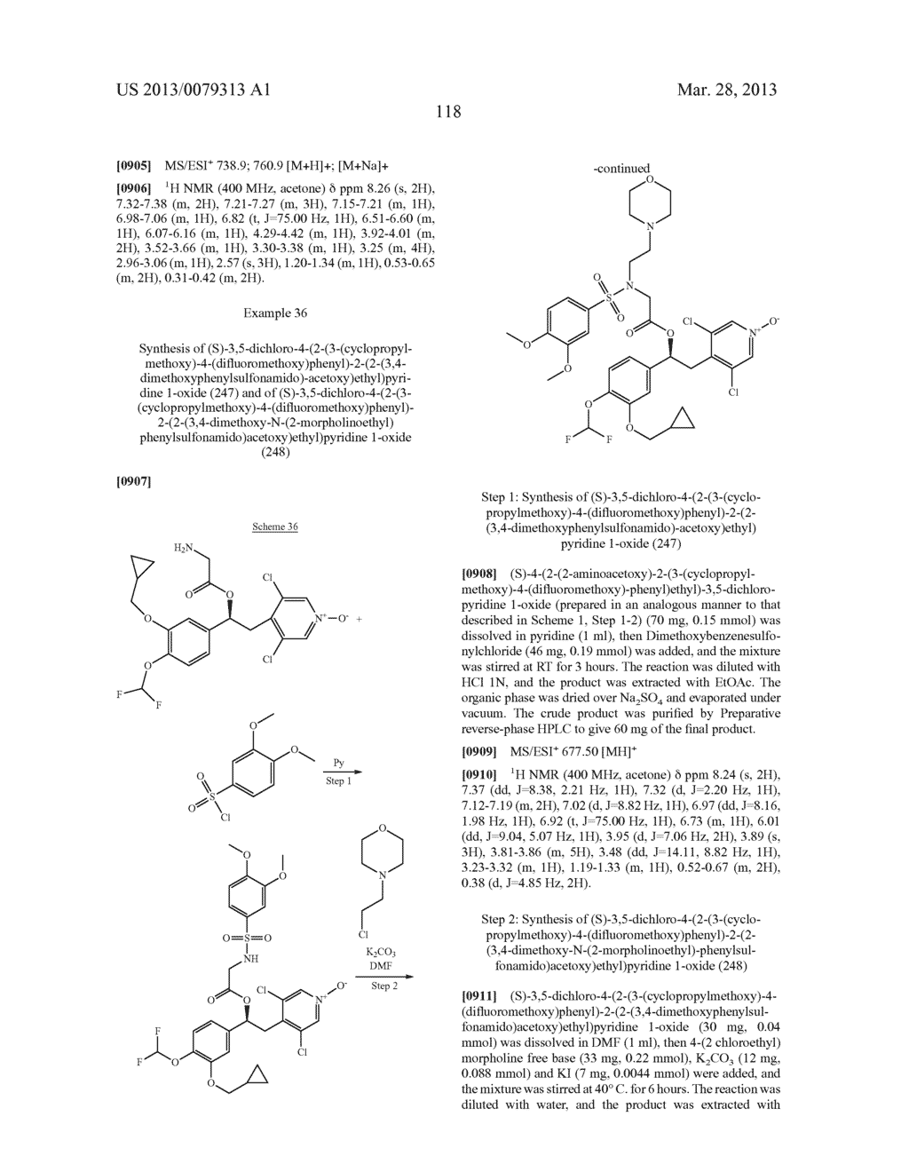 DERIVATIVES OF 1-PHENYL-2-PYRIDINYL ALKYL ALCOHOLS AS PHOSPHODIESTERASE     INHIBITORS - diagram, schematic, and image 119