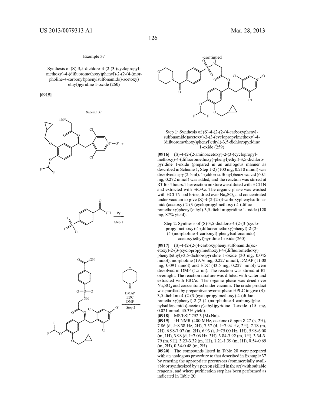 DERIVATIVES OF 1-PHENYL-2-PYRIDINYL ALKYL ALCOHOLS AS PHOSPHODIESTERASE     INHIBITORS - diagram, schematic, and image 127