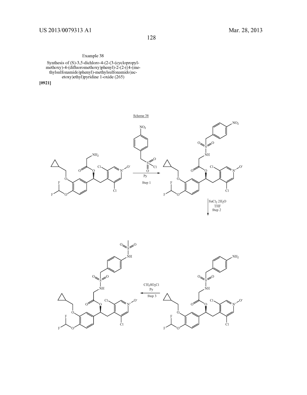 DERIVATIVES OF 1-PHENYL-2-PYRIDINYL ALKYL ALCOHOLS AS PHOSPHODIESTERASE     INHIBITORS - diagram, schematic, and image 129