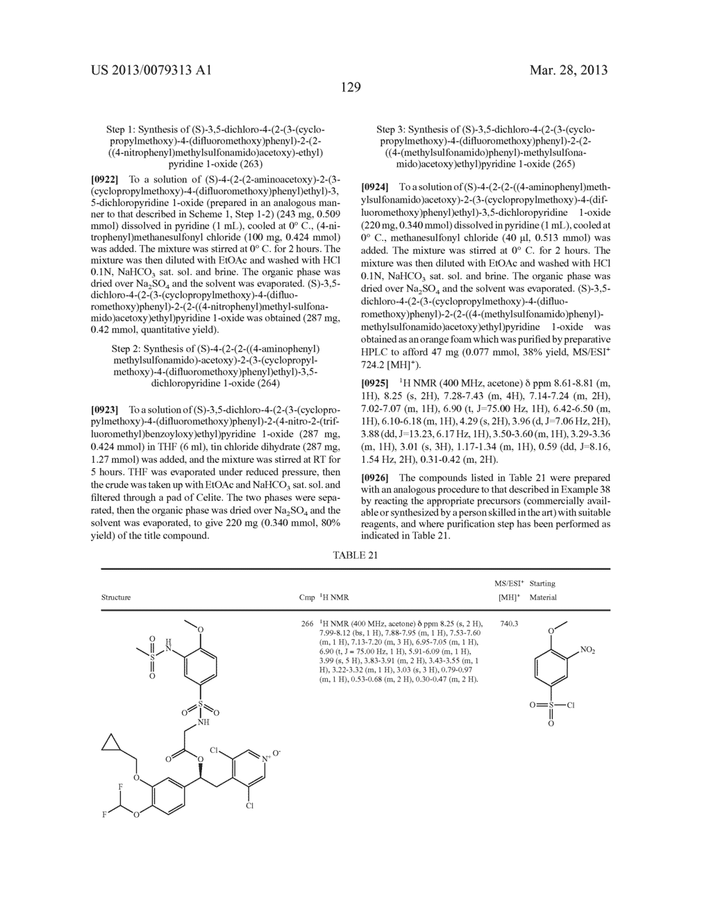 DERIVATIVES OF 1-PHENYL-2-PYRIDINYL ALKYL ALCOHOLS AS PHOSPHODIESTERASE     INHIBITORS - diagram, schematic, and image 130
