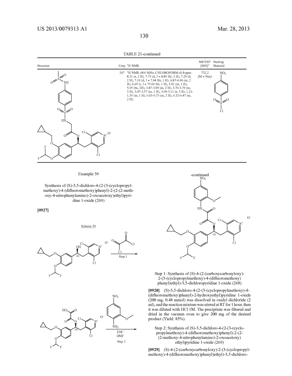 DERIVATIVES OF 1-PHENYL-2-PYRIDINYL ALKYL ALCOHOLS AS PHOSPHODIESTERASE     INHIBITORS - diagram, schematic, and image 131