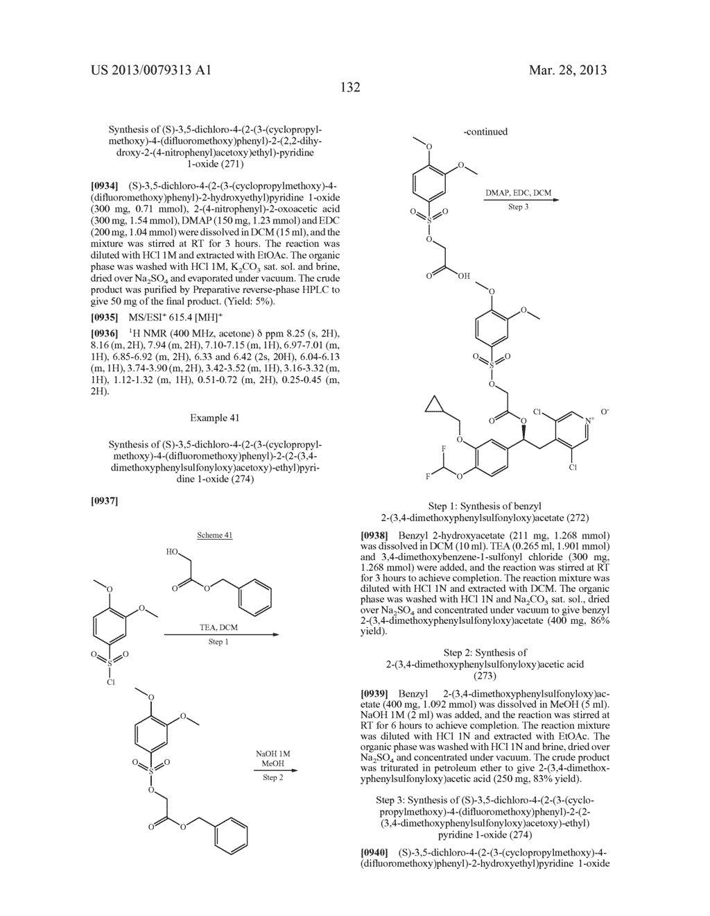 DERIVATIVES OF 1-PHENYL-2-PYRIDINYL ALKYL ALCOHOLS AS PHOSPHODIESTERASE     INHIBITORS - diagram, schematic, and image 133