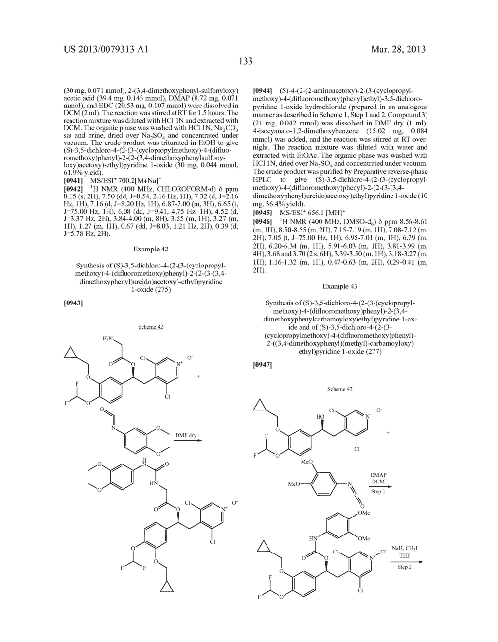 DERIVATIVES OF 1-PHENYL-2-PYRIDINYL ALKYL ALCOHOLS AS PHOSPHODIESTERASE     INHIBITORS - diagram, schematic, and image 134