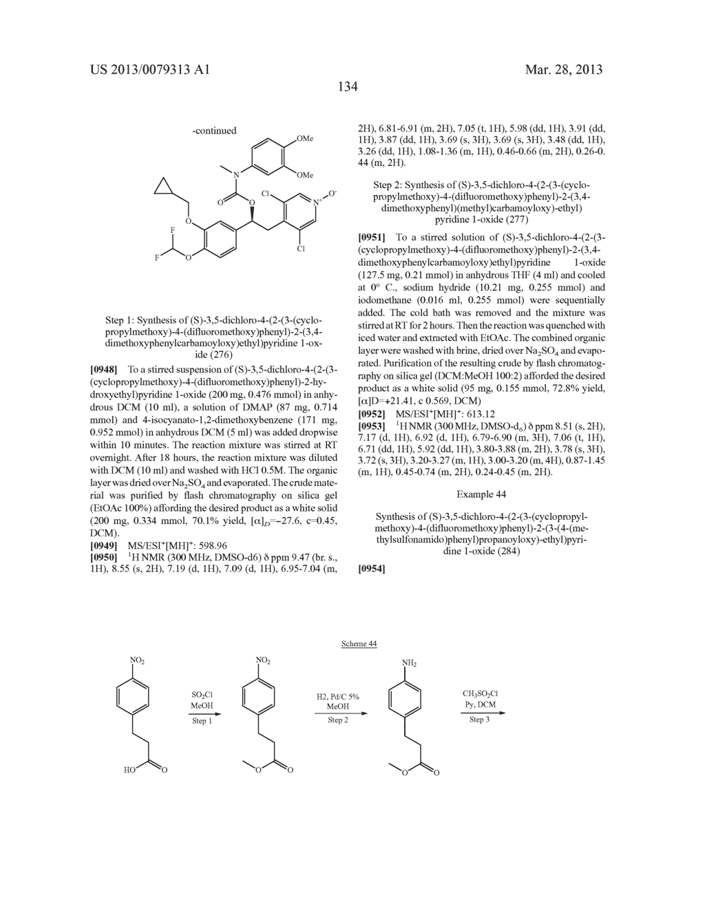 DERIVATIVES OF 1-PHENYL-2-PYRIDINYL ALKYL ALCOHOLS AS PHOSPHODIESTERASE     INHIBITORS - diagram, schematic, and image 135