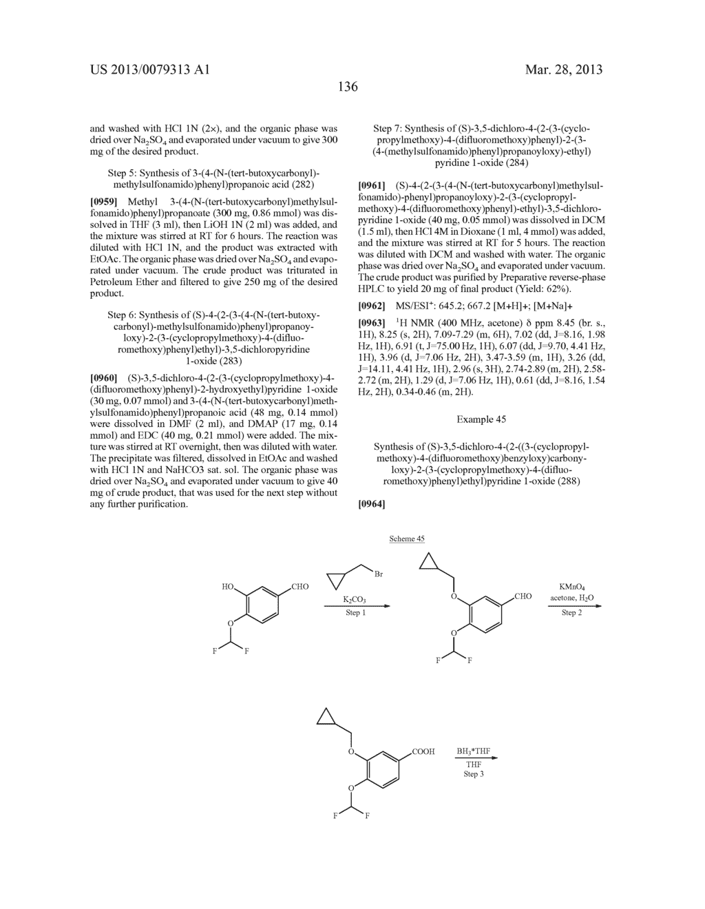 DERIVATIVES OF 1-PHENYL-2-PYRIDINYL ALKYL ALCOHOLS AS PHOSPHODIESTERASE     INHIBITORS - diagram, schematic, and image 137