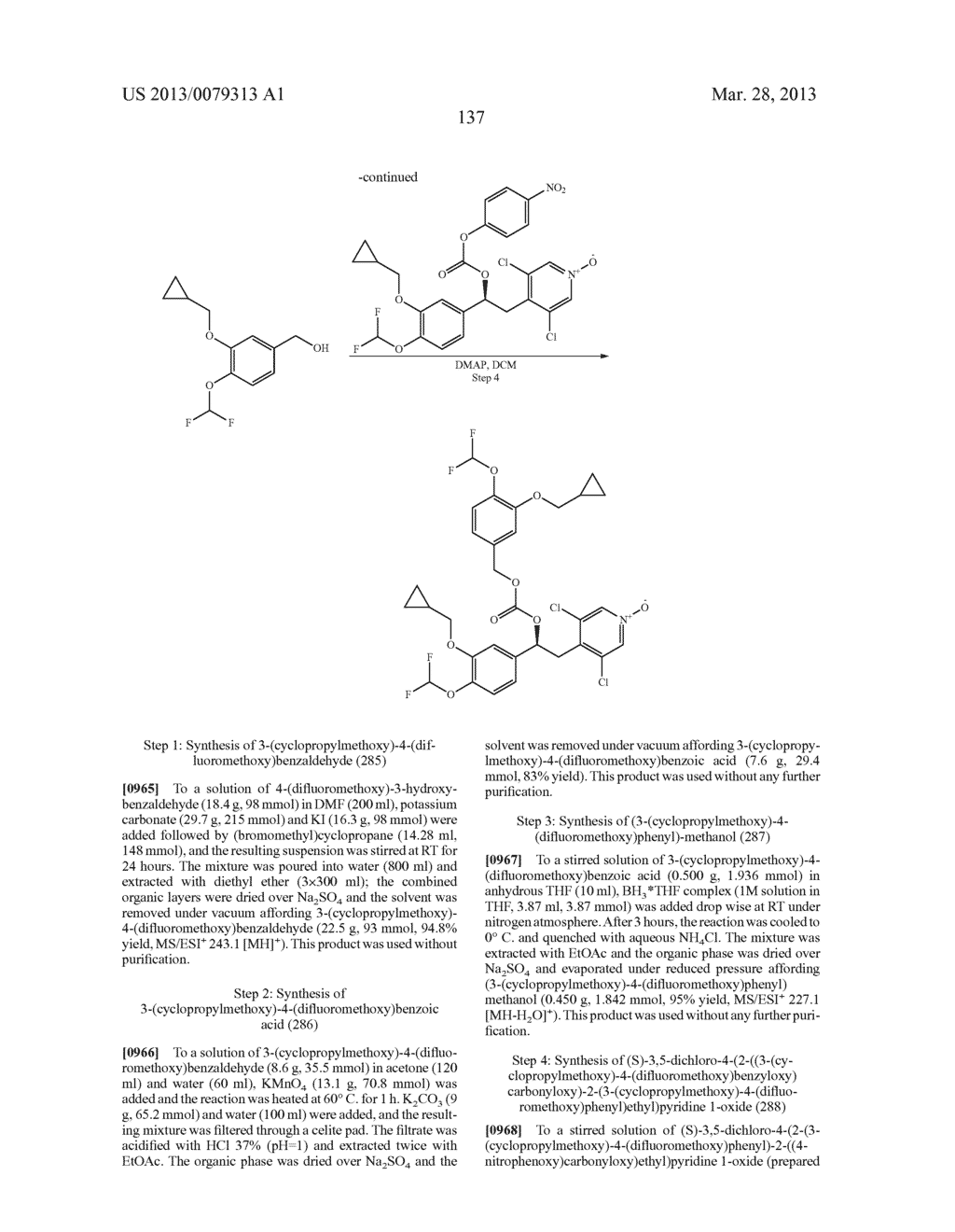 DERIVATIVES OF 1-PHENYL-2-PYRIDINYL ALKYL ALCOHOLS AS PHOSPHODIESTERASE     INHIBITORS - diagram, schematic, and image 138