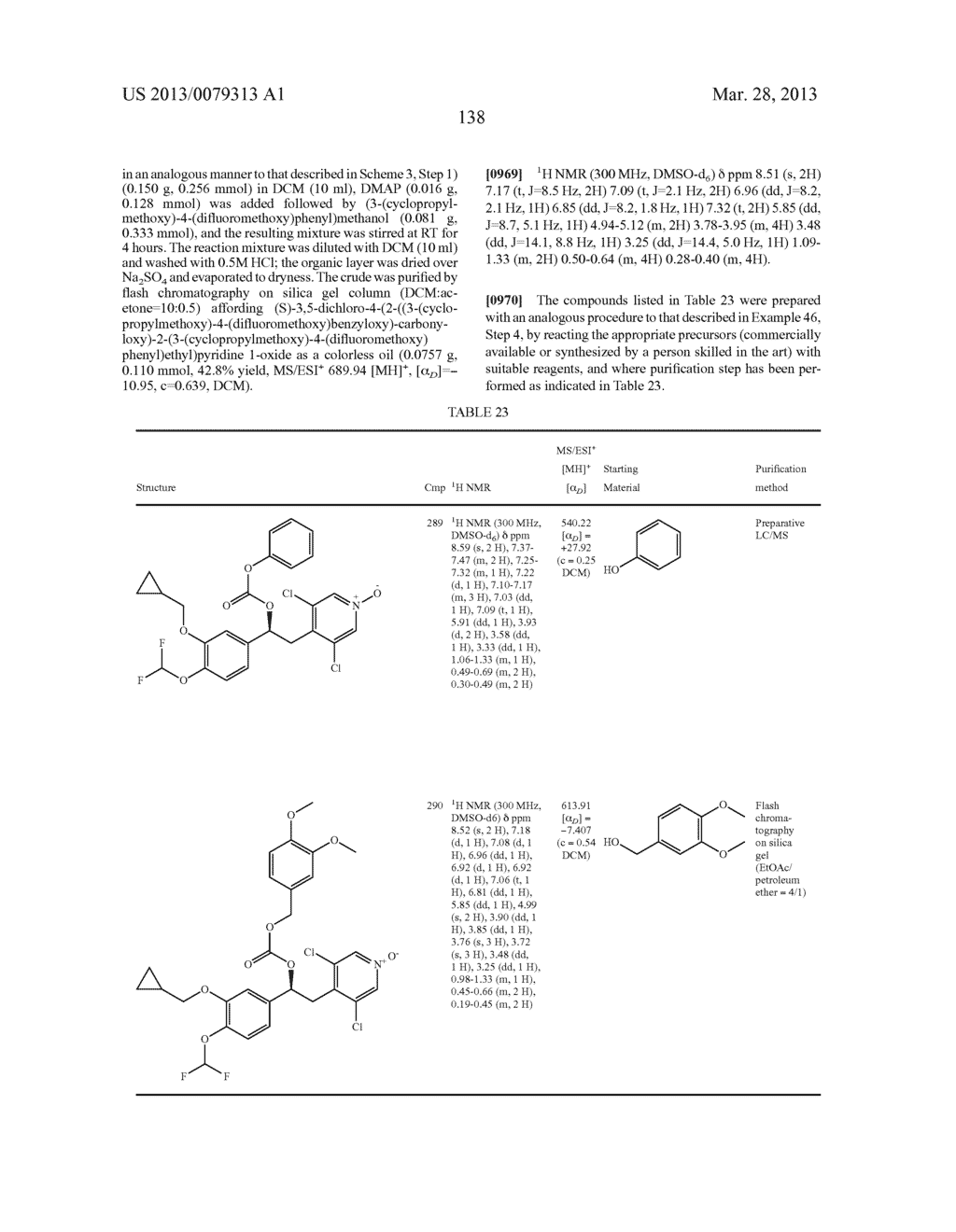 DERIVATIVES OF 1-PHENYL-2-PYRIDINYL ALKYL ALCOHOLS AS PHOSPHODIESTERASE     INHIBITORS - diagram, schematic, and image 139