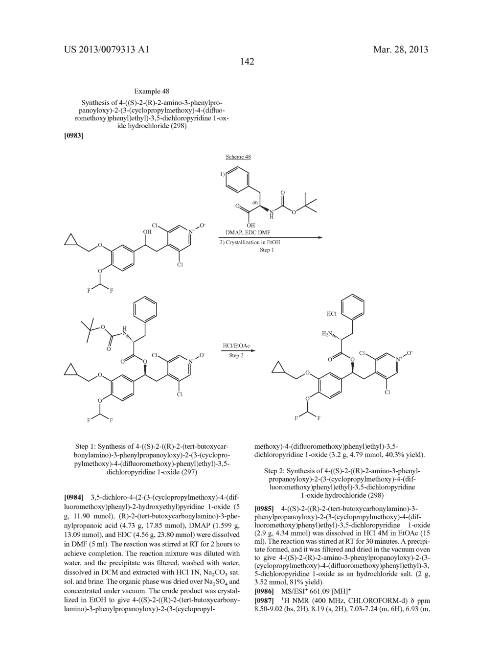 DERIVATIVES OF 1-PHENYL-2-PYRIDINYL ALKYL ALCOHOLS AS PHOSPHODIESTERASE     INHIBITORS - diagram, schematic, and image 143